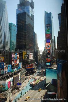 Une vue imprenable sur Times Square à New York (Etats-Unis). #timessquare #manhattan #newyork #newyorkcity