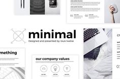 Free Minimal Powerpoint Templates To achieve the level of excellence you want in your Powerpoint, use this incredible powerpoint template to make your powerpoint as creative and competent as you want.
