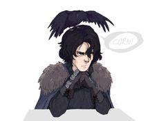 Jon Snow and Mormont's Raven