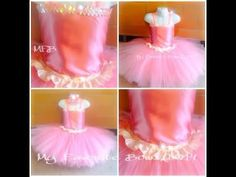 ▶ How to decorate a tutu top (crochet) with fabric by My Favorite Bows - YouTube -- great idea -- wonder if you could sew it instead of glue easily?