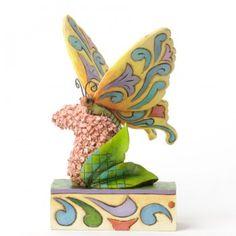 Butterfly Kisses-Butterfly On Flowers Figurine