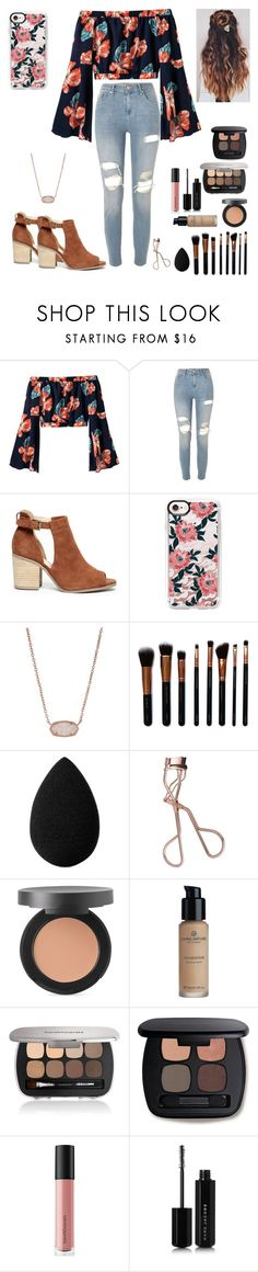 """Trying to Escape RTD"" by look-in-the-clouds ❤ liked on Polyvore featuring River Island, Sole Society, Casetify, Kendra Scott, M.O.T.D Cosmetics, beautyblender, Charlotte Tilbury, Bare Escentuals and Marc Jacobs"