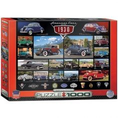 American Cars of the 1930's Jigsaw Puzzle - PZ-014P- American Classic Cars, American Classic Car Memorabilia, Classic Cars.