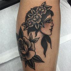 Tatuagem feita por Bruna Yonashiro no estilo old school. #tatuagem #tattoo #tradicional #oldschool