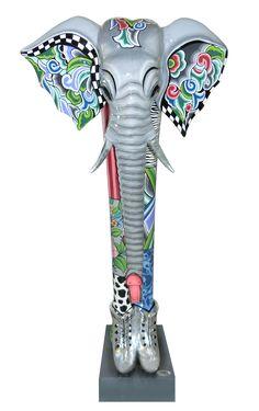 """Elefant """"Alexander"""" XXL kam durch die Silver Line Collection in unser Sortiment und ist jetzt schon ein echtes Mitglied der Toms Drags Familie - www.amaru-design.com"""
