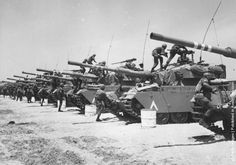 Israeli Centurion tank corps prepare for battle during the Six-Day War. (Photo by Three Lions/Getty Images). June 1967
