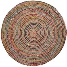 Kave Home Rond Vloerkleed 'Saht' kleur multicolor