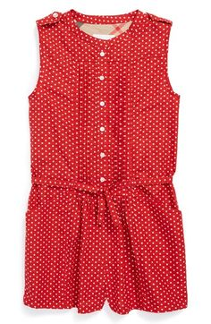 Burberry 'Amaryllis' Cotton Romper (Little Girls & Big Girls) available at #Nordstrom