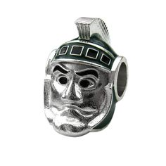 Hey, I found this really awesome Etsy listing at http://www.etsy.com/listing/155116013/michigan-state-msu-spartan-charm-bead
