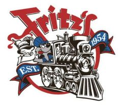 Fritz's Railroad Restaurant - hamburger place in Kansas City. It's all set up as if you are riding inside a train. The food is delivered on little train cars that travel around a track near the ceiling. When your food arrives the train car is lowered to your table.
