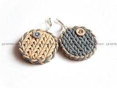 Polymer Clay braided earrings
