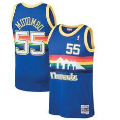 752c90e07b1 Dikembe Mutombo Denver Nuggets Mitchell & Ness 1991-92 Hardwood Classics  Swingman Jersey - Blue