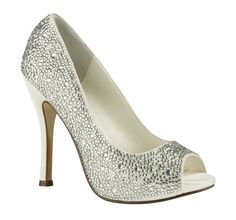 A pair of heels adorned in Swarovski crystals. Yes please!