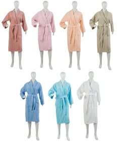 Ladies Plain Towelling Dressing Gown (Various Colours & Sizes) - Mill Outlets