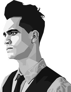 Brendon Urie BlackWhite Wpap by DewickeyR on DeviantArt