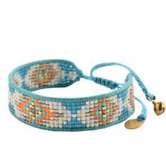 Woman Pearl Orange & TurquoiseTrack - mishky Bracelet
