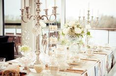 Hire candelabra from an extensive collection at Cotswold Vintage Party Hire, add individual brass or glass candlesticks, tea light & holders & lanterns Vintage Props, Vintage Party, Glass Candlesticks, Candelabra, Downton Abbey Fashion, Party Hire, 1920s Wedding, Winter Wonderland Wedding, Tea Light Holder
