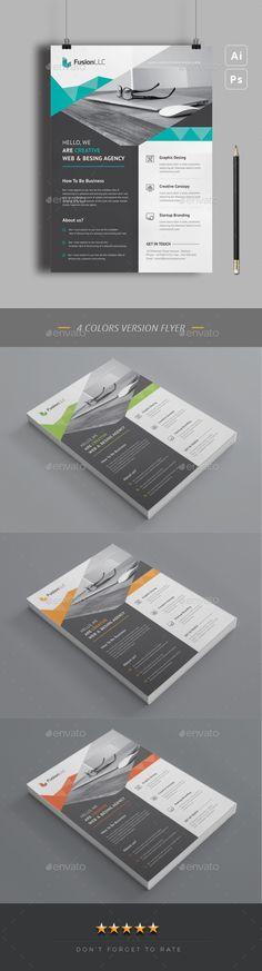 Flyer Design Template PSD, Vector EPS. Download here: https://graphicriver.net/item/flyer/21864247?ref=ksioks