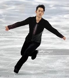 Japans Daisuke Takahashi performs during the men's short program figure skating at the Iceberg Skating Palace during the Winter Olympics in Sochi...