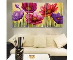 Flower Art, Floral Painting, Canvas Painting, Original Art, Large Painting – Silvia Home Craft Simple Oil Painting, Modern Oil Painting, Hand Painting Art, Large Painting, Oil Painting Abstract, Painting Canvas, 3 Piece Painting, Painting Trees, Modern Paintings