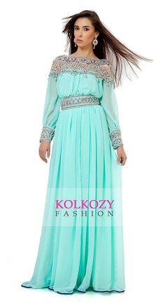 Moroccan Caftan Style Maxi Dress Party Wear Kaftan by KolkozyShop