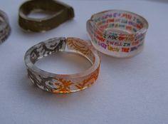 Shrinky Dink rings - kids craft