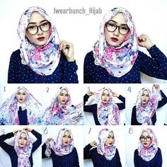 Simple Hijab Tutorials For Glasses