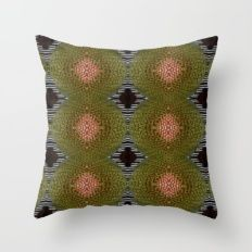 Green Brown Orange Pattern, Xmas Gift, Christmas Gift Throw Pillow