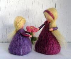 Handmade fairies - Handmade víla z vlny #handmade #fairy #wool #decoration…