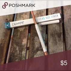 """Free with Purchase! ColourPop Gel Liner This sample came with my Ipsy subscription. Free with any purchase, just leave a comment so I can include in your shipment! If you chose to purchase this alone price is firm at $5. Color is """"get paid"""", a nice rose gold. Brand new. Makeup Eyeliner"""