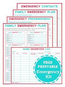 FREE Emergency Planning Printables