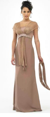 Erizzi 031 Long Formal Gown for the Mother of the Bride or Groom w/Shawl