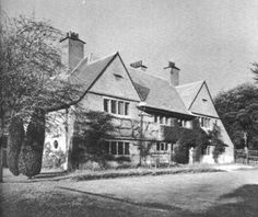 """In 1990 Charles Voysey built and completed """"The Orchard,"""" his house at Chorley Wood, Hertfordshire. He designed most of the furniture and decorated the inside himself."""