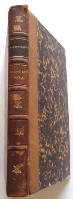 1910 ROUSSEAU EL CONTRATO SOCIAL DERECHO POLITICO GARNIER SPANISH ANTIQUE BOOK