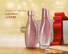 Presente Natura Luna Rosé - Desodorante Colônia + Óleo Corporal + Embalagem Desmontada