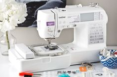 Brother Combination Computerized Sewing and Embroidery Machine With 67 Built-in Stitches, 70 Built-in Designs, 5 Lettering Fonts - - The computerized combination embroidery and sewing machine is design Embroidery Machine Reviews, Brother Embroidery Machine, Computerized Embroidery Machine, Sewing Machine Embroidery, Sewing Machine Reviews, Sewing Stitches, Embroidery Patterns, Embroidery Machines, Machine Quilting
