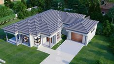 3 Bedroom House Plan - My Building Plans South Africa Four Bedroom House Plans, Tuscan House Plans, Family House Plans, 3 Bedroom House, Single Storey House Plans, House Plans South Africa, Dream House Exterior, Building Plans, Mlb