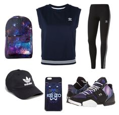 """Love me some adidas"" by omaimamassher on Polyvore featuring adidas and Kenzo"