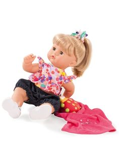 Blond Hair Aquini Maxy With Accessories Baby Doll by Gotz This Gotz doll is designed for water play and has a beautifully sculptured vinyl face. Gotz Dolls, Ag Dolls, Bath Doll, Pale Pink Lips, Blonde Hair Ties, Vinyl Dolls, Baby Accessories, Pretty Hairstyles, Baby Car Seats