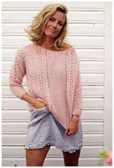 Wool Sweaters, Knitting Sweaters, Knit Crochet, Bell Sleeve Top, Diy Crafts, Style Inspiration, Pullover, Pattern, Tops