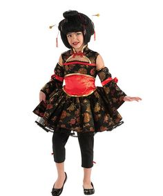 Another great find on #zulily! Black Kokeshi Dress-Up Set - Girls by Rubie's #zulilyfinds