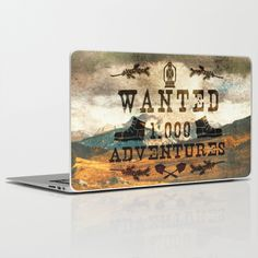 Wanted 1000 Adventures laptop skin by Diogo Verissimo, $30