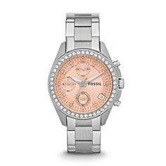 HHMMM...might be a good Xmas money idea!  Fossil Decker Chronograph Stainless Steel Watch