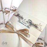 Składanka - Zaproszenia na każdą okazję: Zaproszenia ślubne Ellegance  Ecru