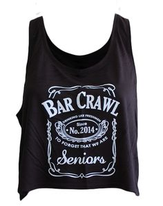 """Senior Bar Crawl Tank Adam Block Design - Use code """"fsuKL1001"""" for 10% off your first order and 5% off every order after!"""