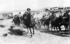 General Pancho Villa at the entrance of Ojinaga, Mexico, 1916.    Source: Archivo General de la Nación