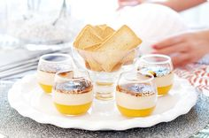 Margo y Foie ' Creme Brulee, Canapes, Confectionery, Sweet Recipes, Panna Cotta, Appetizers, Pudding, Yummy Food, Snacks