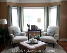 Baby grand piano living room by Chic on a Shoestring Decorating