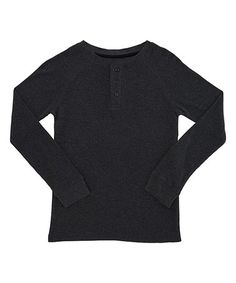 Look what I found on #zulily! Charcoal Thermal Henley Long-Sleeve Tee - Toddler & Boys #zulilyfinds