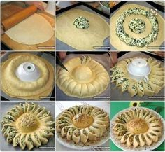 Sunny Spinach Pie When you're hosting a party, you want to surprise your guests with something out of the ordinary and extra special. This sunny spinach pie recipe will delight your guests and have them beggingSavory Spinach Pie Recipe If a delicious dish Sunny Spinach Pie Recipe, Spinach Recipes, Appetizer Recipes, Bread Recipes, Appetizers, Cooking Recipes, Recipes Dinner, Pastry Recipes, Spinach And Cheese